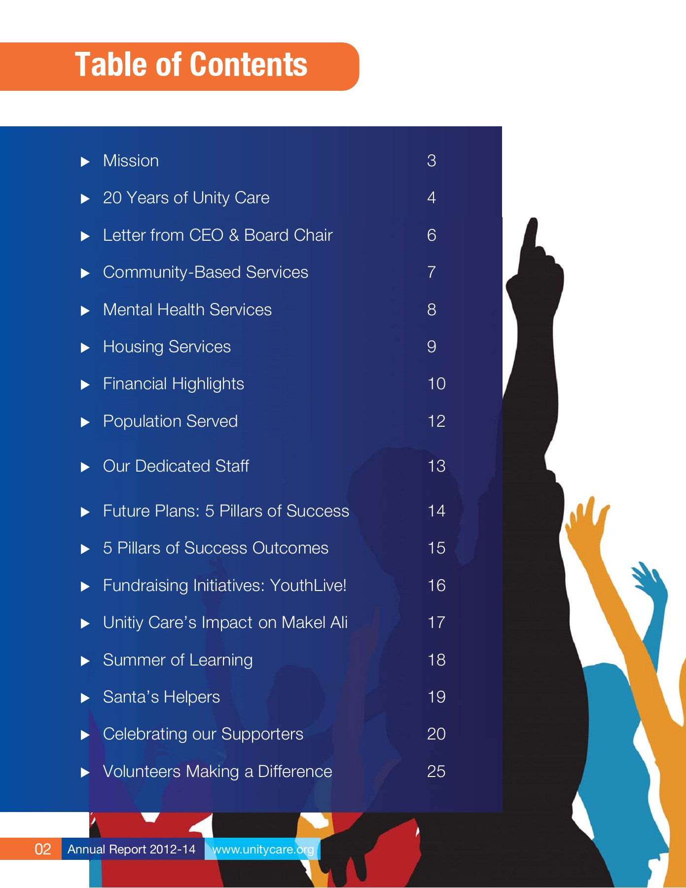 Unity Care Annual Report 2012-14 Pages 1 - 28 - Text Version | AnyFlip