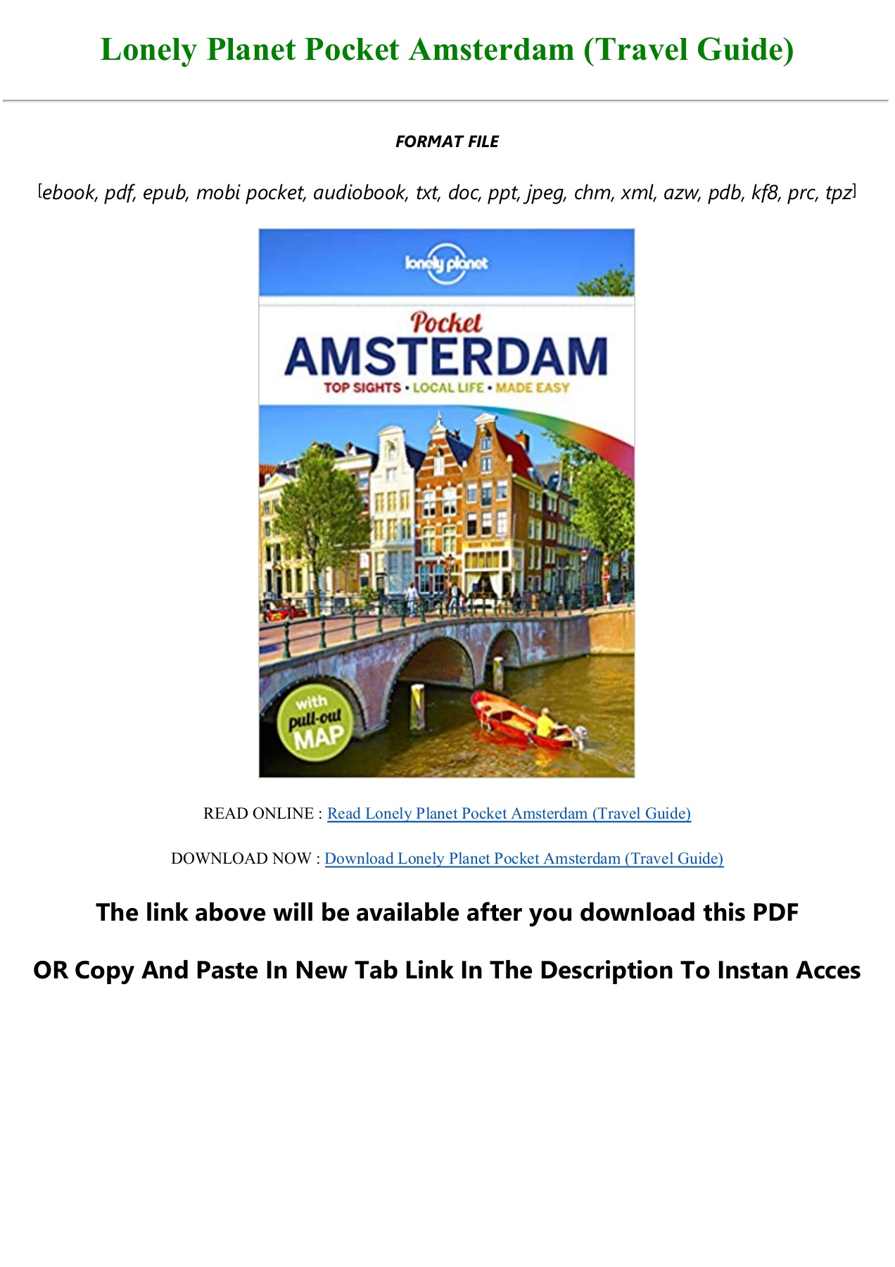 Pdf Download Lonely Planet Pocket Amsterdam Travel Guide Full Pdf Online Flip Ebook Pages 1 3 Anyflip Anyflip