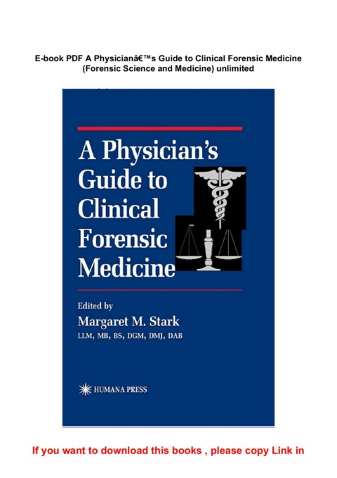 E Book Pdf A Physiciana S Guide To Clinical Forensic Medicine Forensic Science And Medicine Unlimited Pages 1 5 Text Version Anyflip