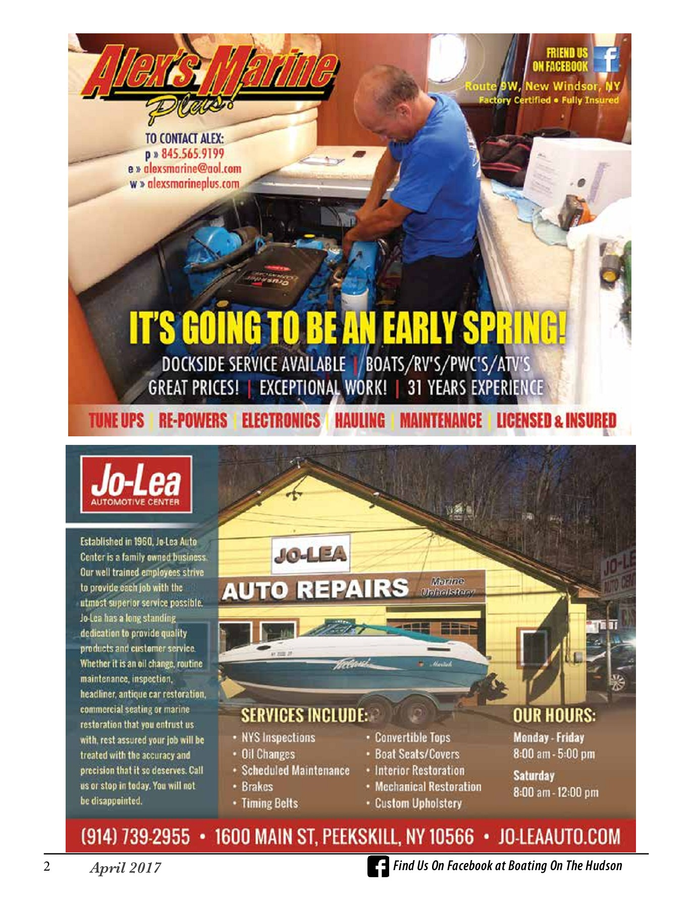 Boating On The Hudson April 2017 Pages 51 84 Text
