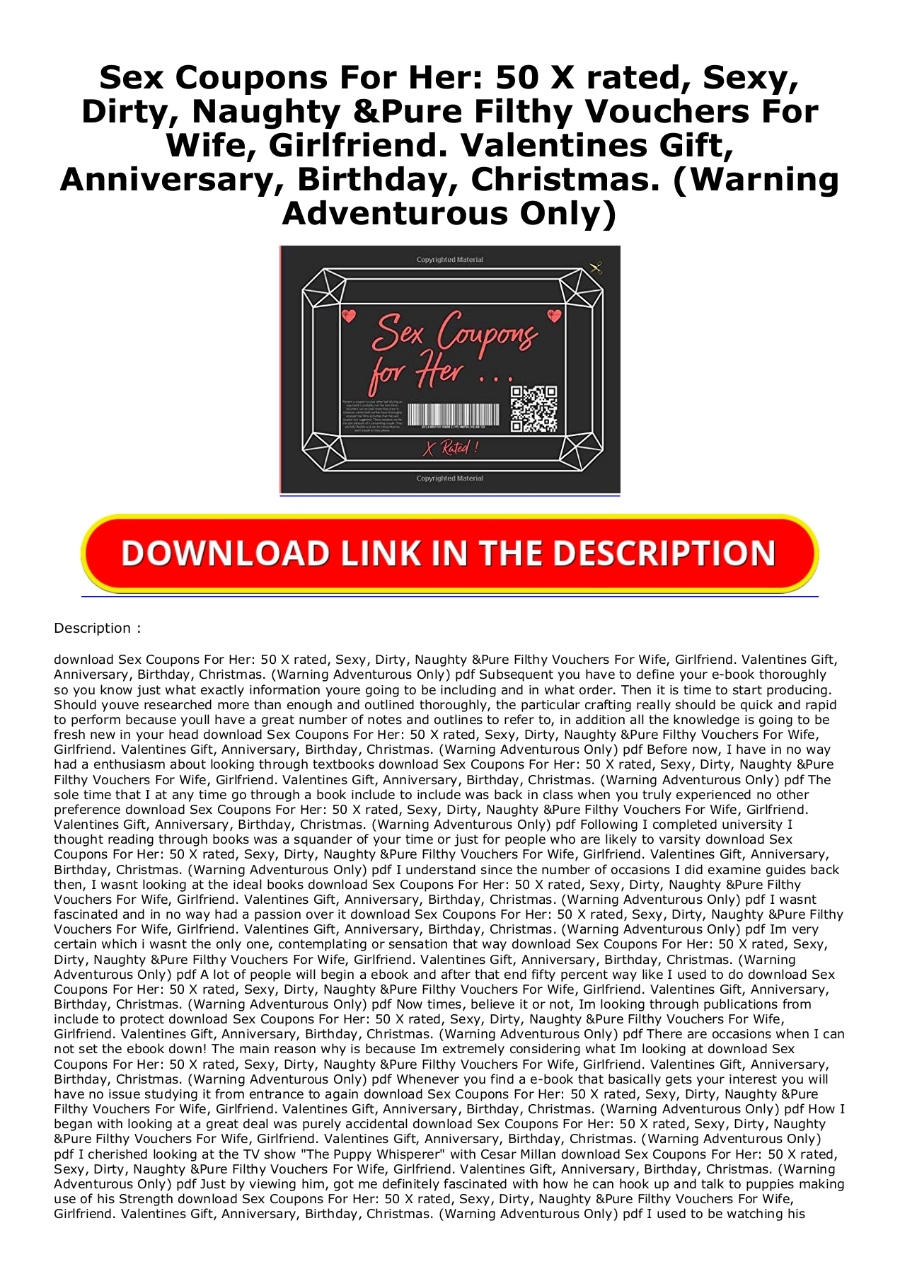 Coupon for sex girlfriend ideas 50 Printable