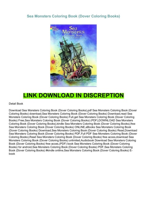 Free Sea Monsters Coloring Book (Dover Coloring Books)-Flip EBook Pages 1 -  1AnyFlip AnyFlip