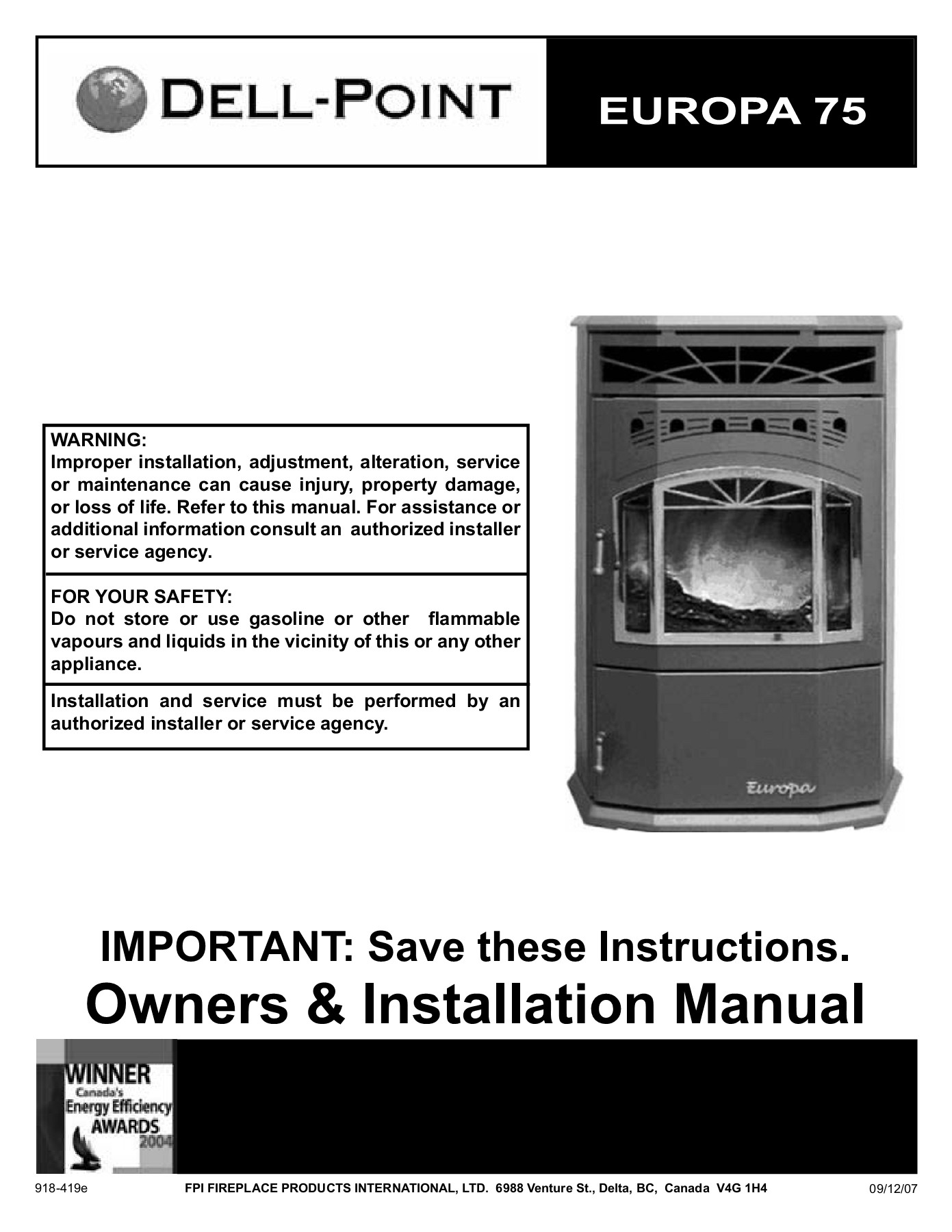 Difference Poele A Bois Et Insert owners & installation manual - regency fire pages 1 - 28
