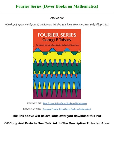 Download Read Fourier Series Dover Books On Mathematics Full Books Flip Ebook Pages 1 3 Anyflip Anyflip