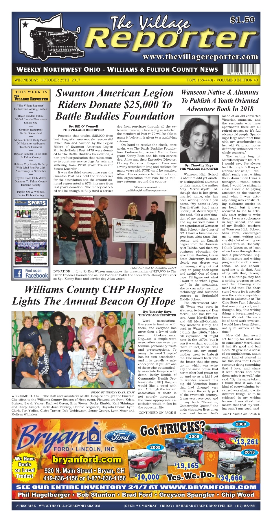 The Village Reporter - October 25th, 2017 Pages 1 - 34