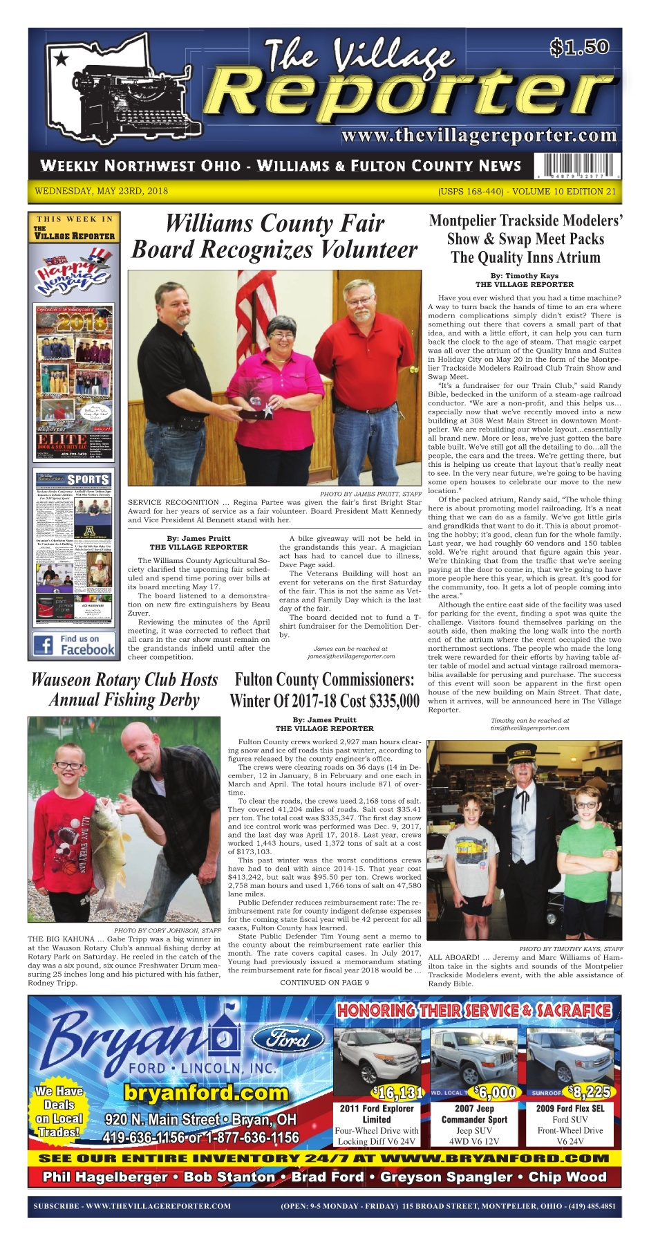 The Village Reporter - May 23rd, 2018 Pages 1 - 50 - Text