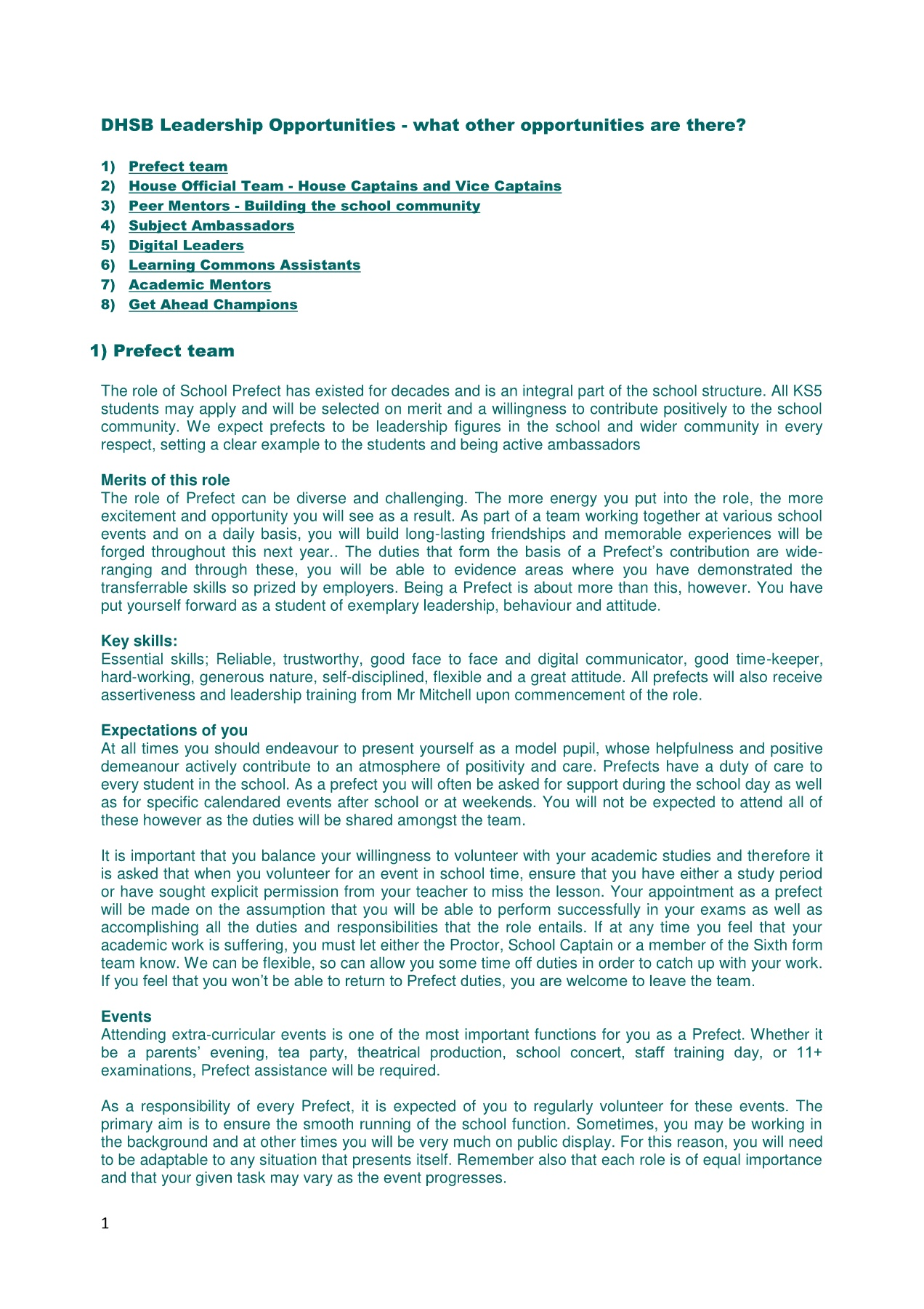Leadership Opportunities Pages 1 - 7 - Text Version | AnyFlip