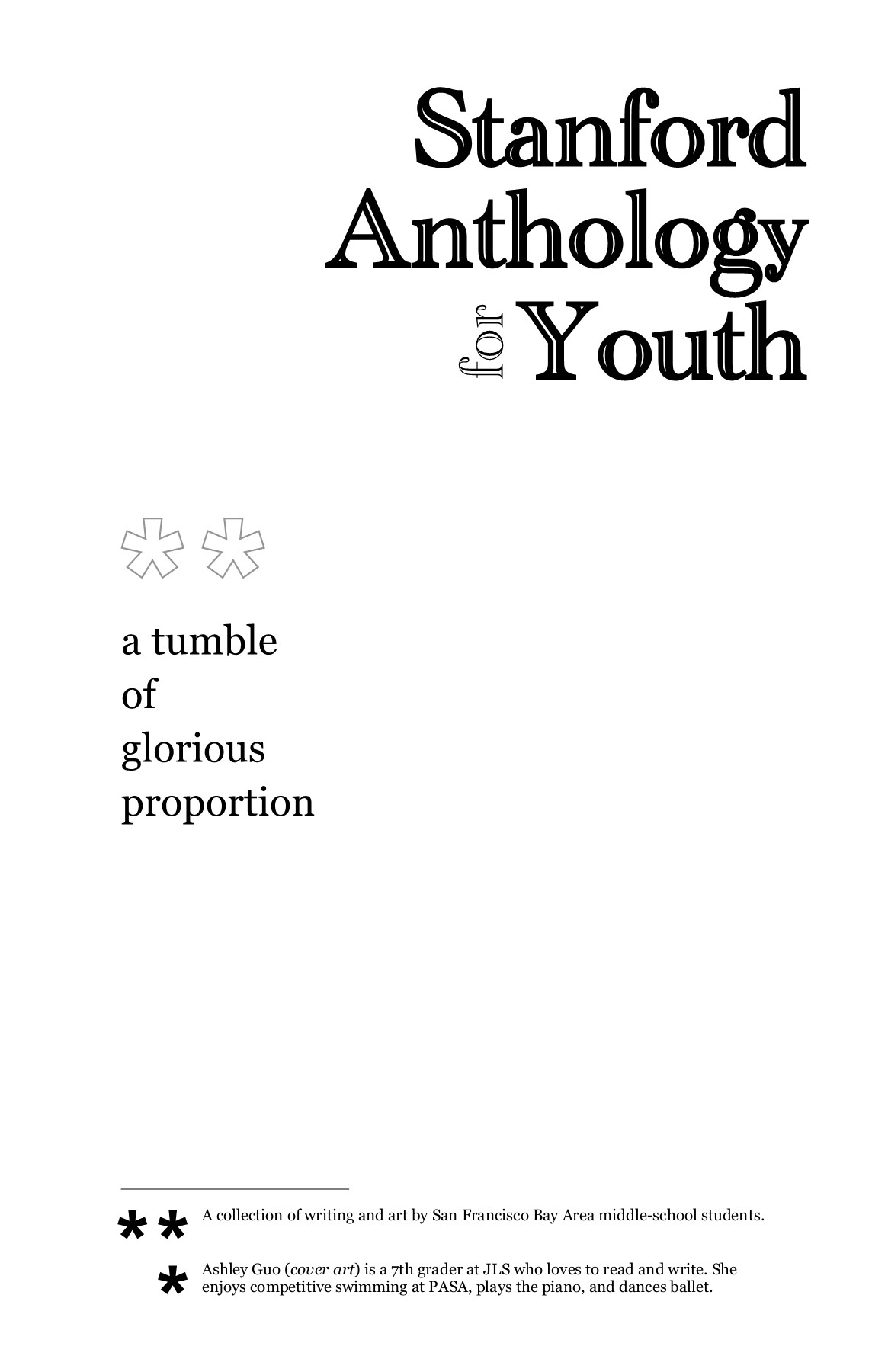 Stanford Anthology For Youth: Volume 19 Pages 1 - 50 - Text