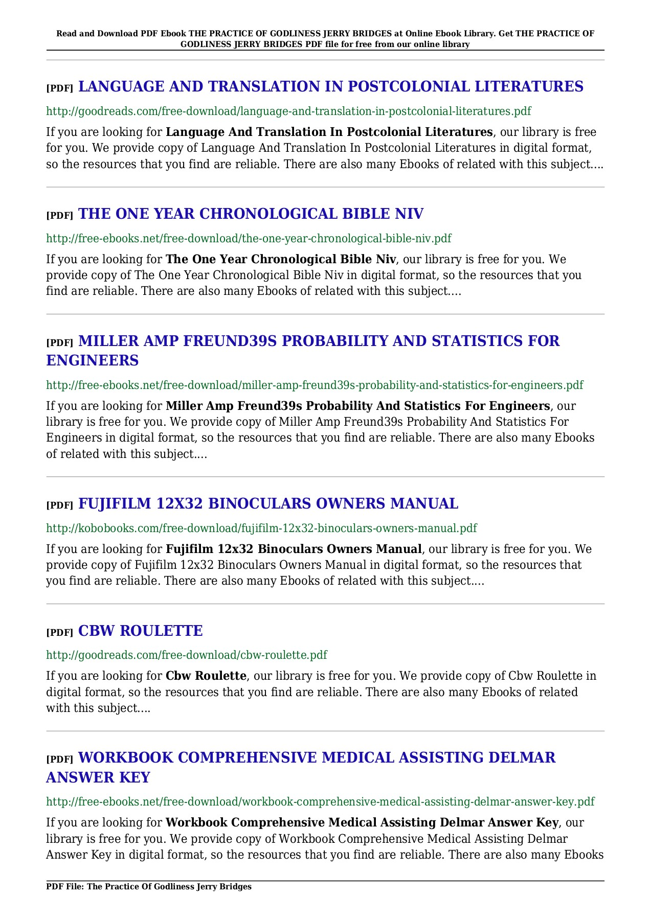 THE PRACTICE OF GODLINESS JERRY PDF - seecar xyz Pages 1