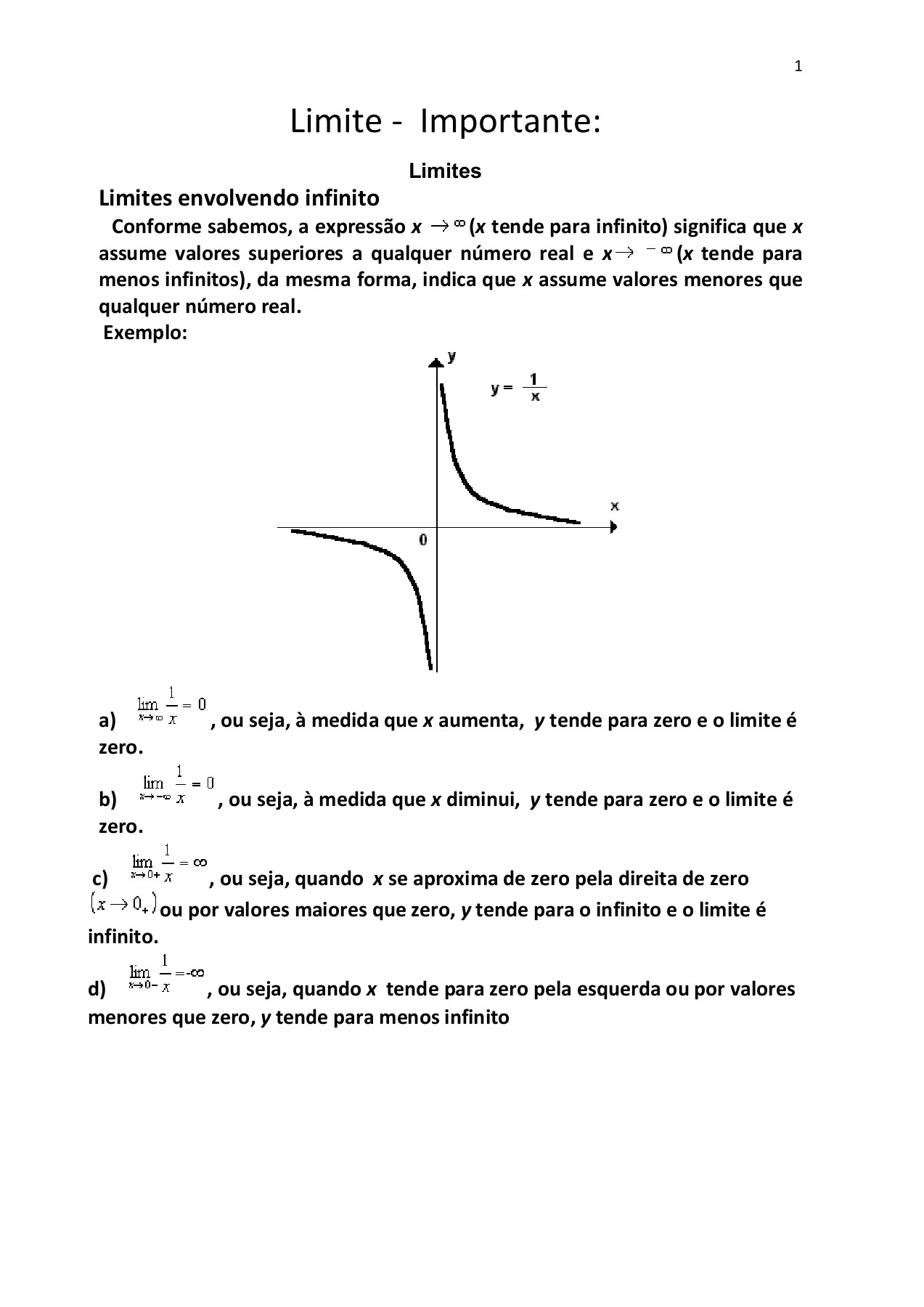 Limite Infinitos Pages 1 - 8 - Text Version | AnyFlip