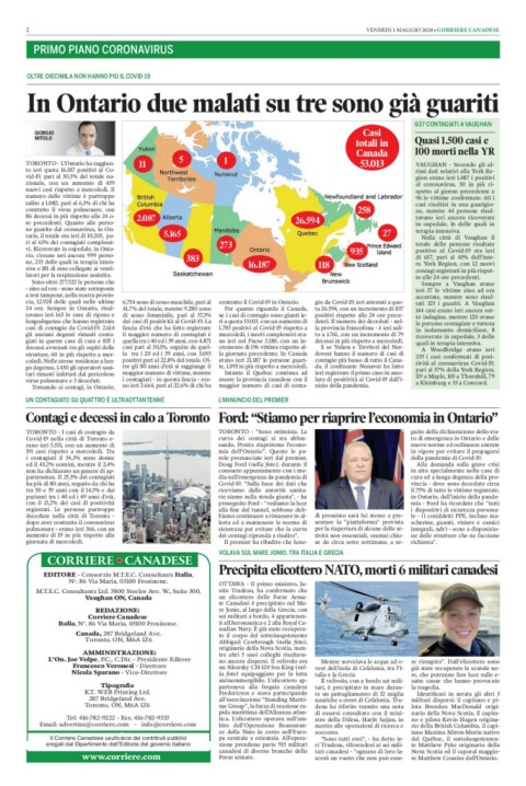 Corriere Canadese 1 Maggio 2020 Pages 1 16 Text Version Anyflip