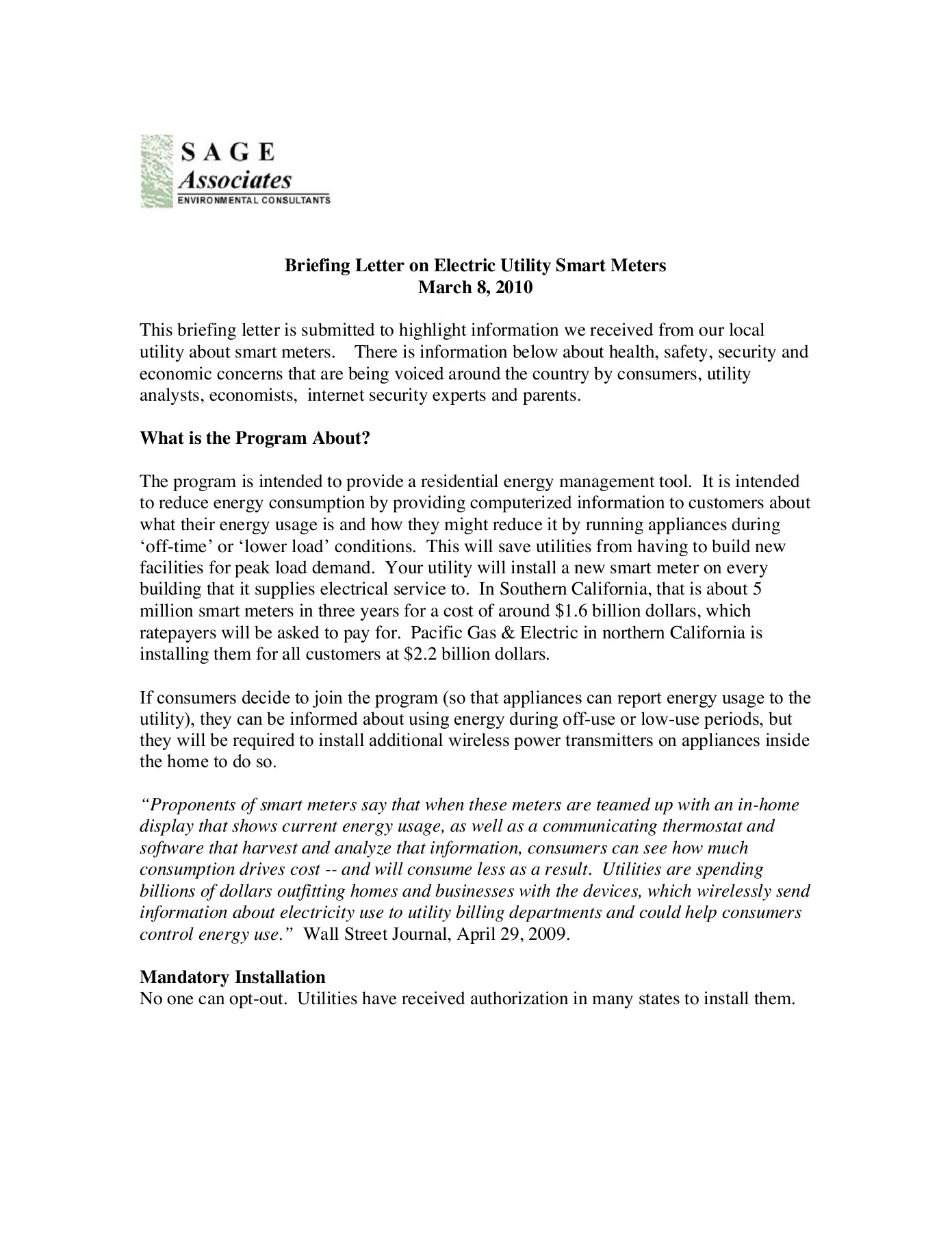 Smart Meter Opt Out Letter.What You Should Know About Smart Meters Electric Meters