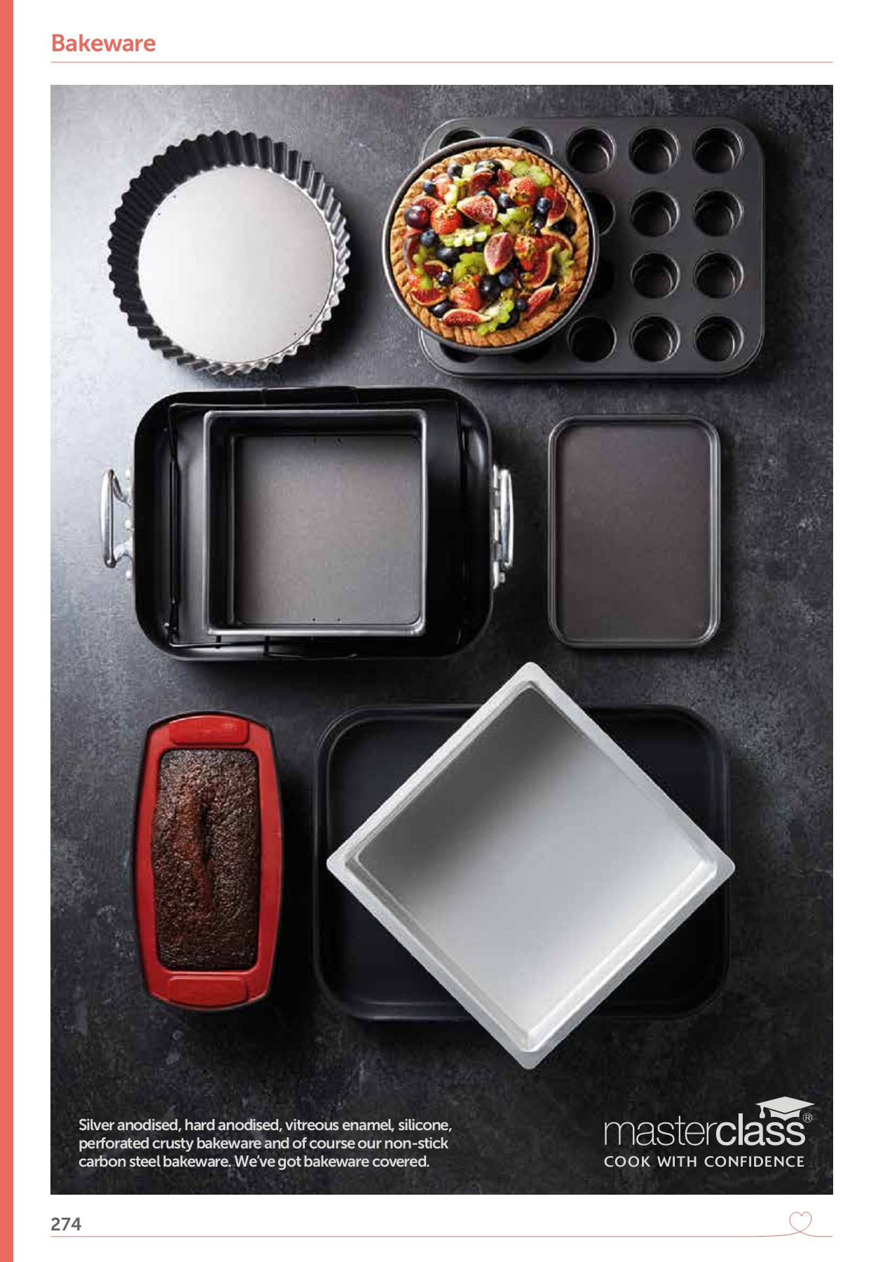 Tart Baking Tin With Paul Hollywood By Kitchencraft 6-hole Non-stick Deep Pie