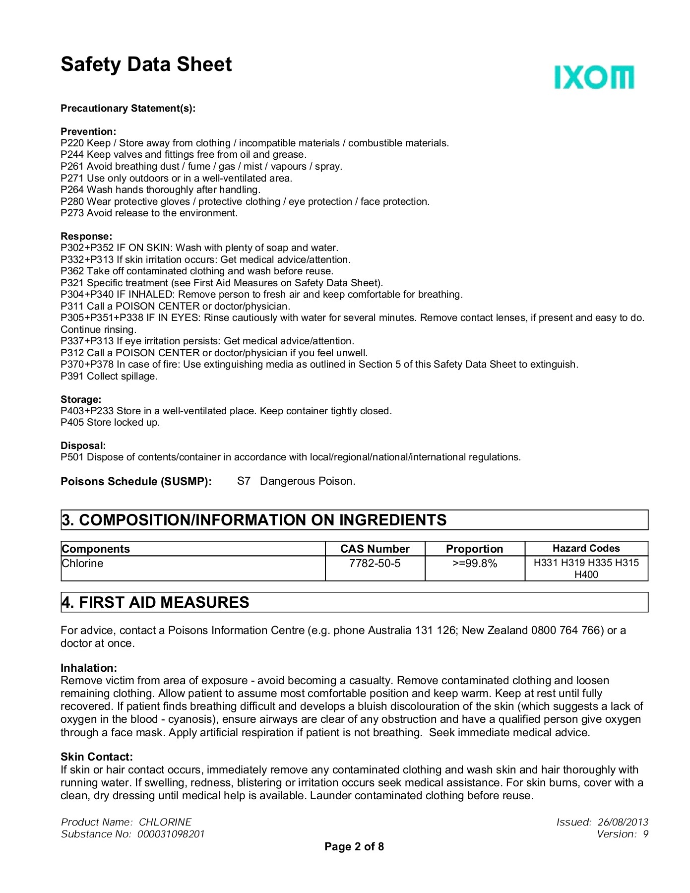 73 Safety Data Sheet Orica Sds Search Pages 1 8 Text Version Anyflip