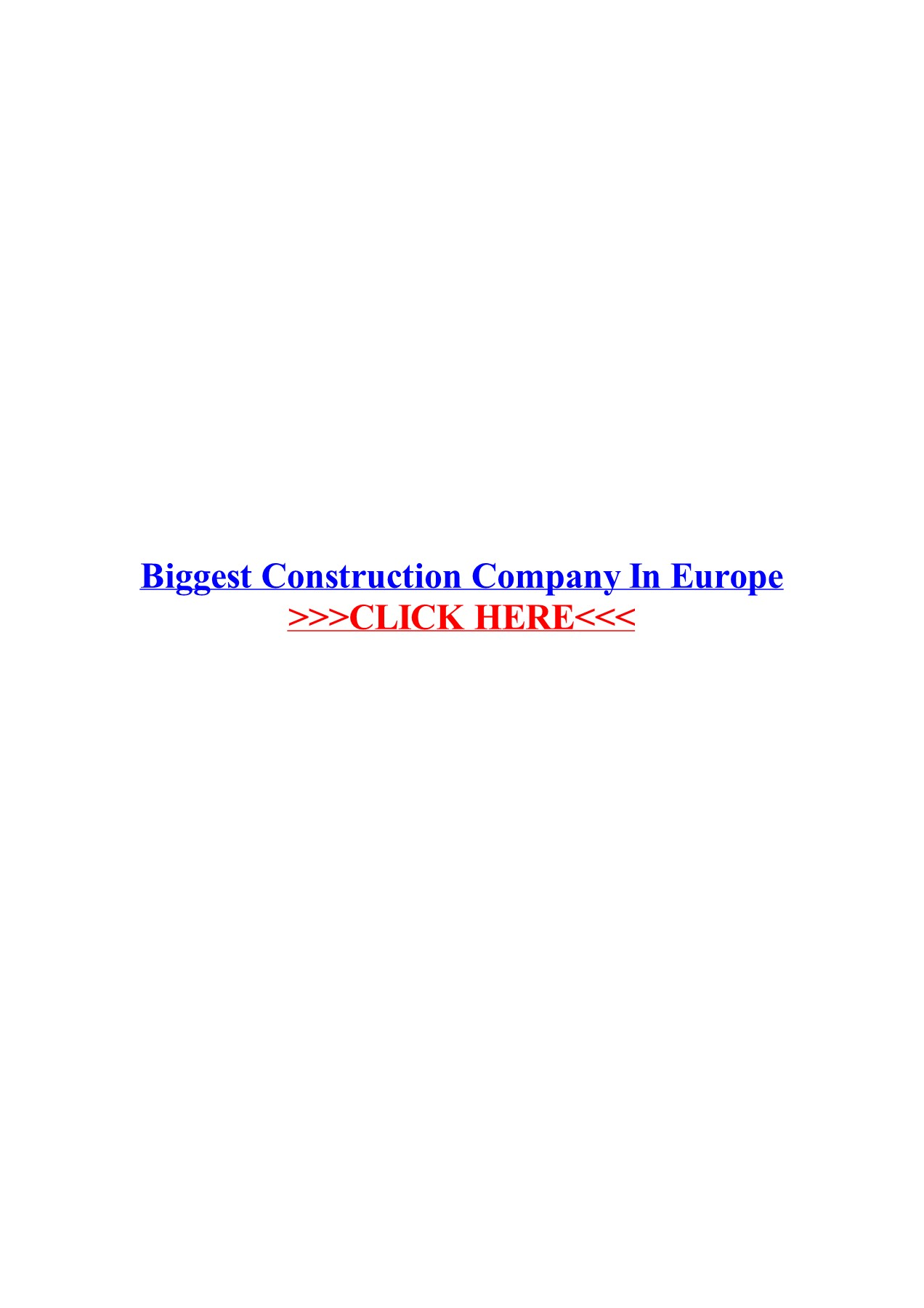 Biggest Construction Companies In Europe