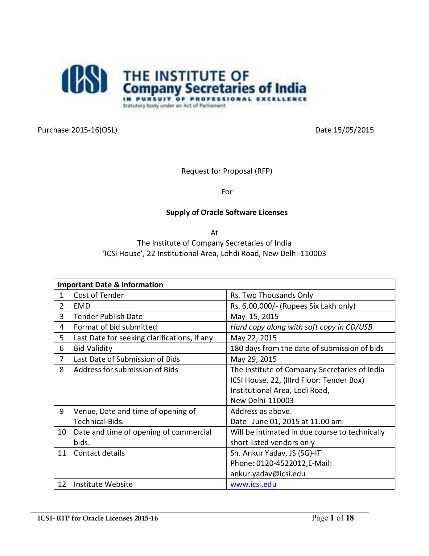 Request For Proposal Rfp Icsi Pages 1 18 Text Version Anyflip