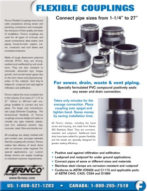 4 x 3 Strong Back PVC Shielded Coupling Asbestos or Ductile Iron to Cast Iron or PVC