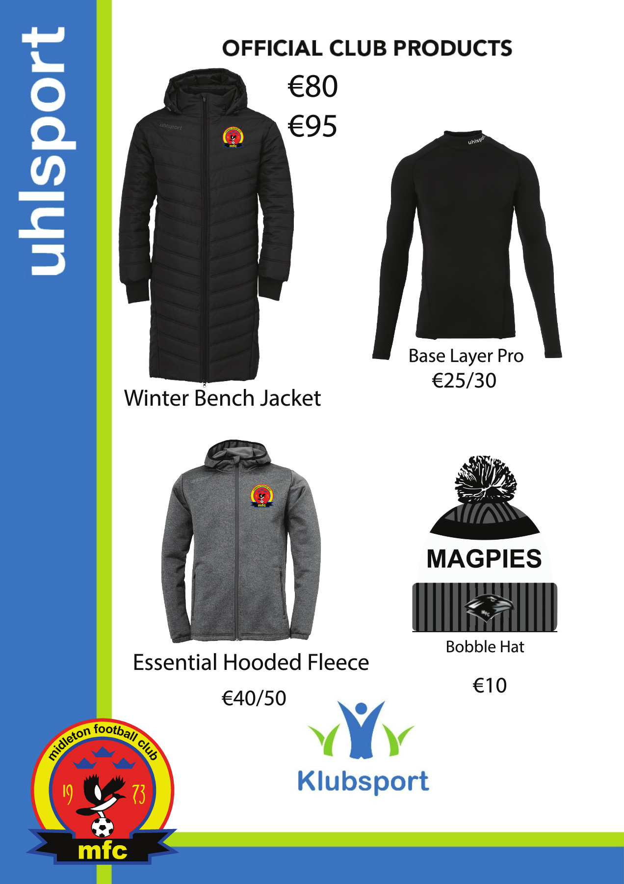 uhlsport Mens Essential Winter Bench Jacket Softshell