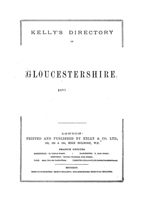 GLOUCESTERSHIRE - 1897 Pages 501 - 546 - Text Version   AnyFlip