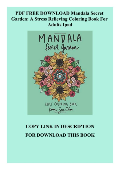 PDF FREE DOWNLOAD Mandala Secret Garden A Stress Relieving Coloring Book  For Adults Ipad-Flip EBook Pages 1 - 3AnyFlip AnyFlip