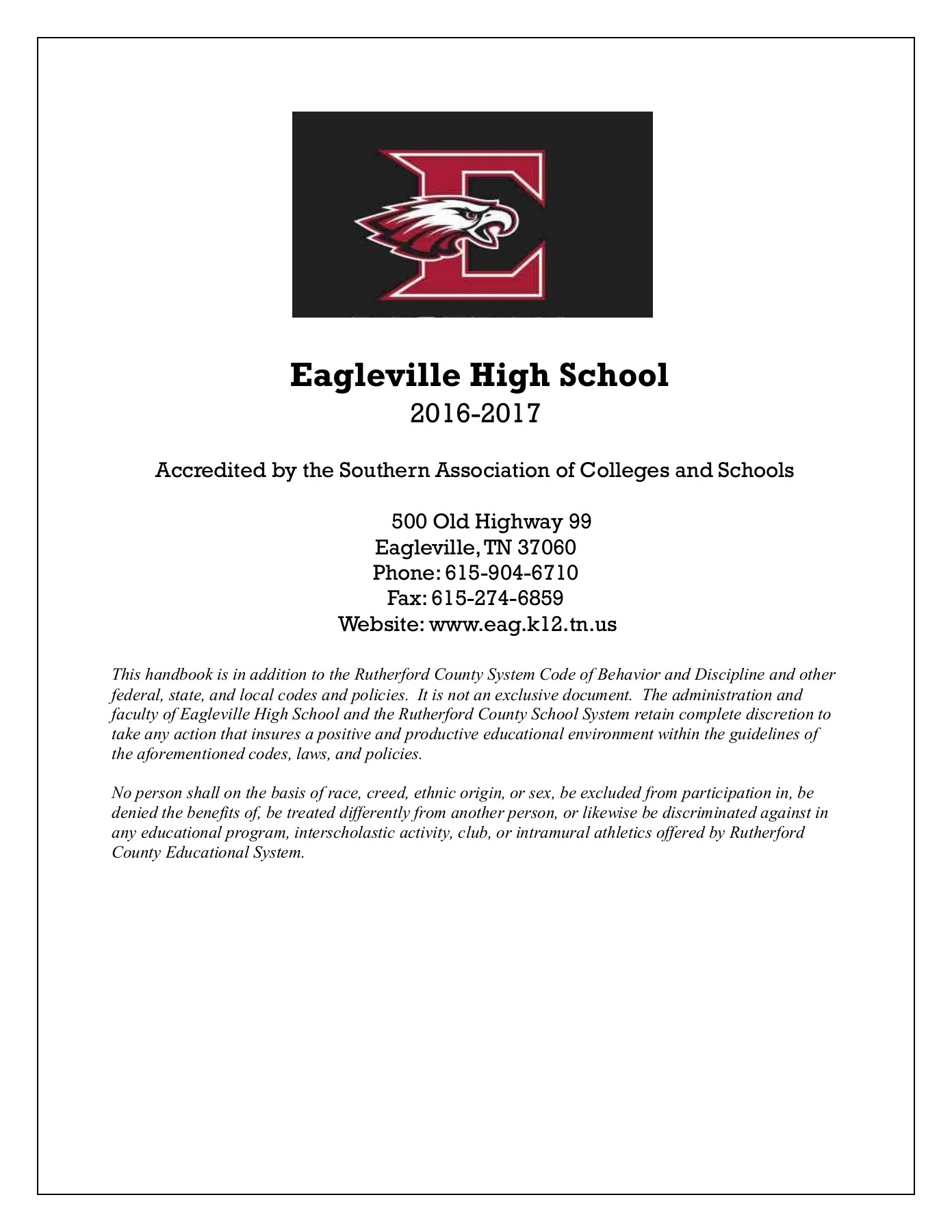 EAG High School Handbook Pages 1 - 21 - Text Version | AnyFlip