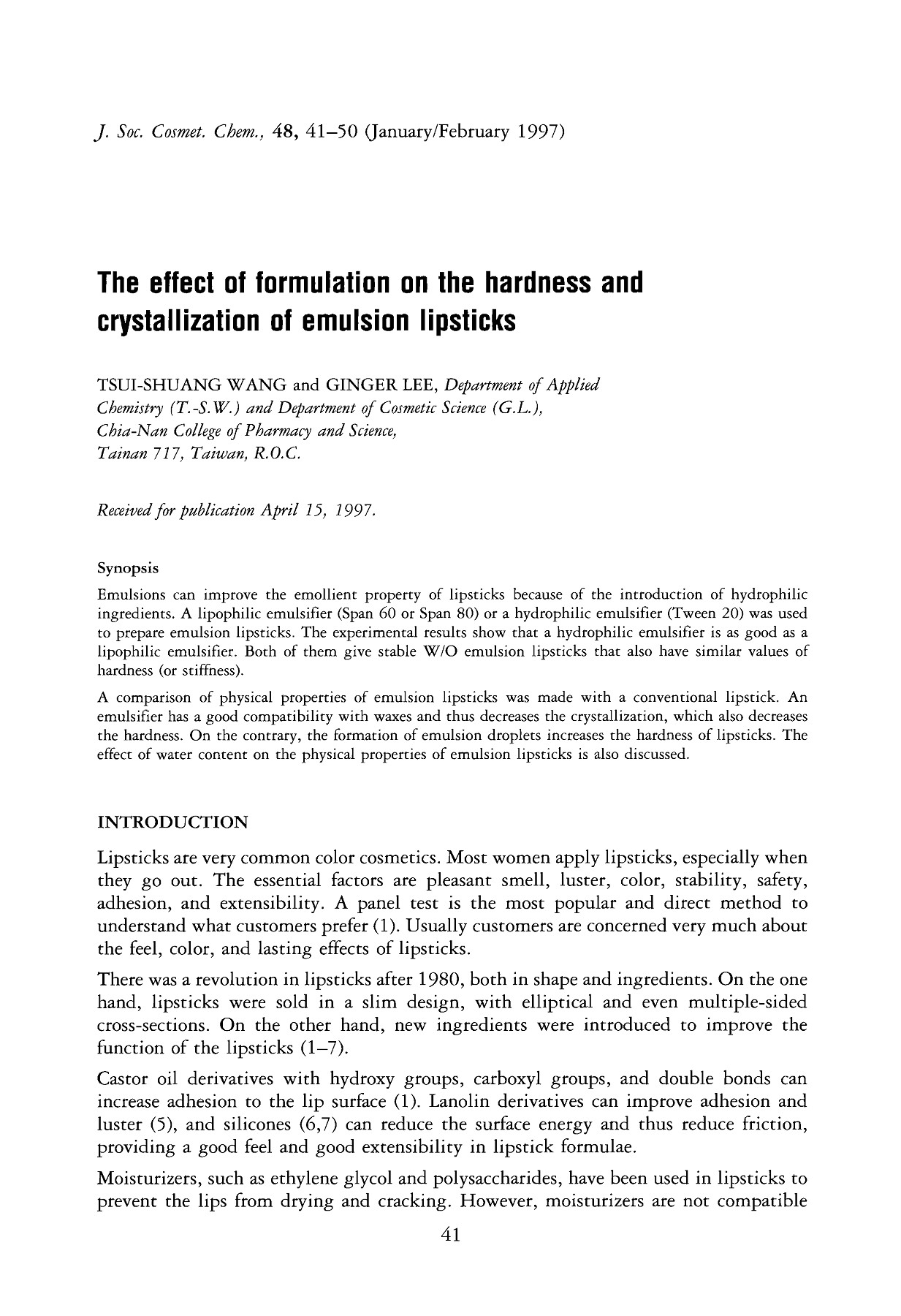 The effect of formulation on the hardness and     Pages 1