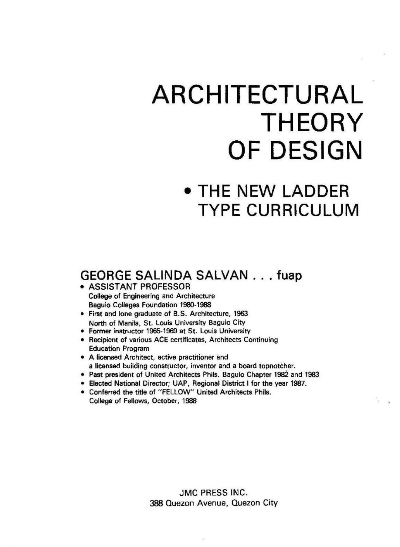 Architectural Theories Of Design By George Salvan Pdf