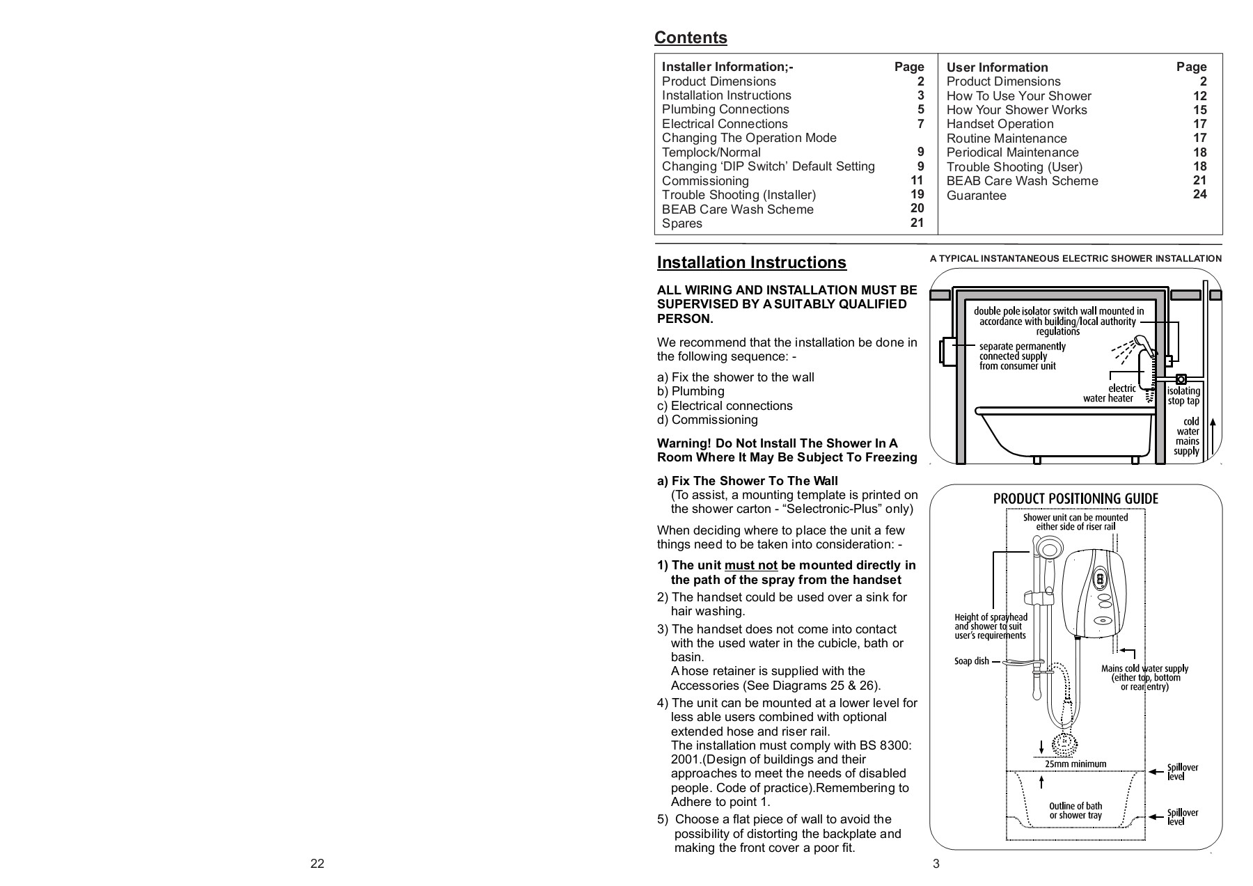Selectronic Premier Installation Instructions Paginated Electric Water Heater