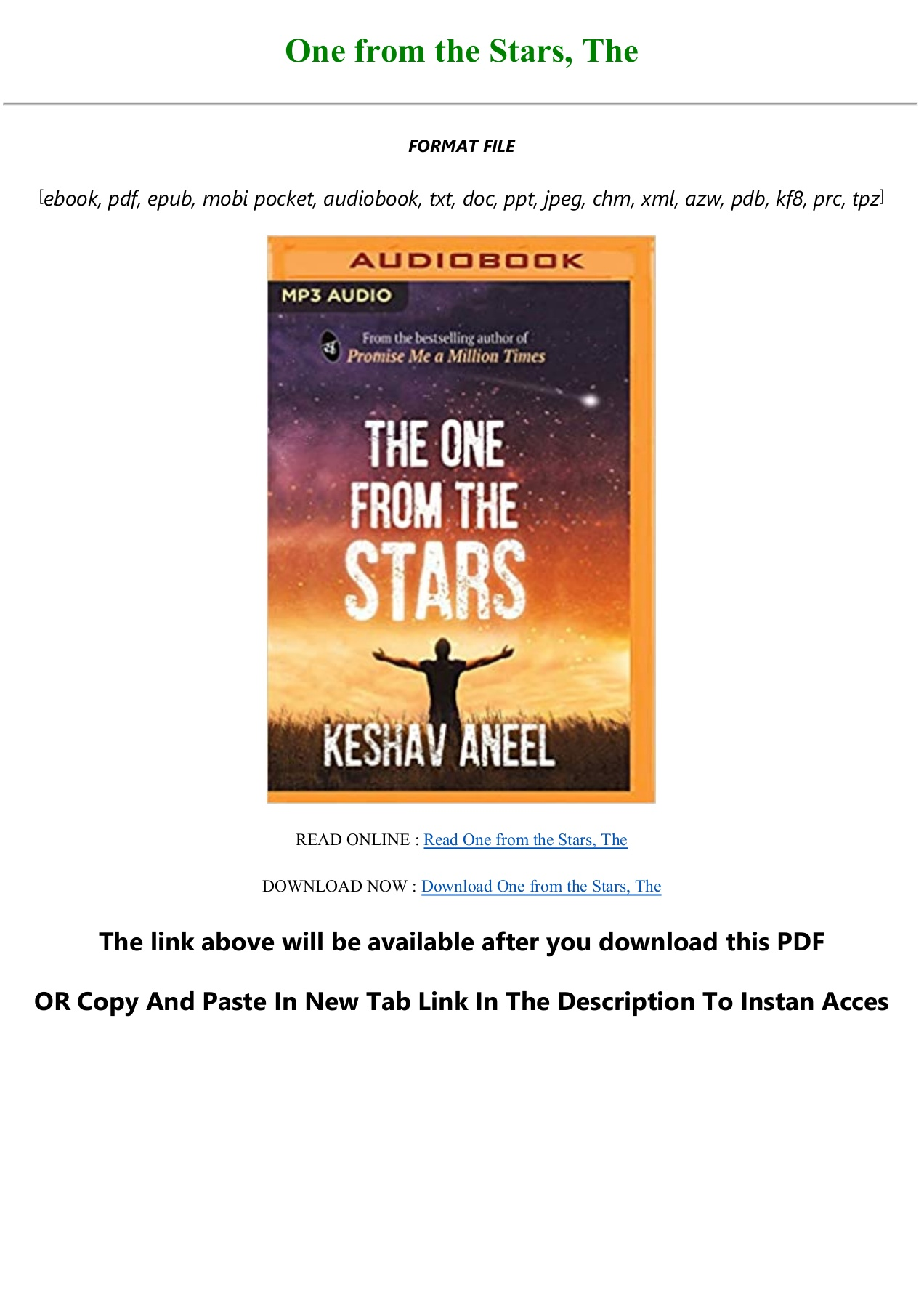 Free Download One From The Stars The Full Pdf Online Pages 1 3 Text Version Anyflip