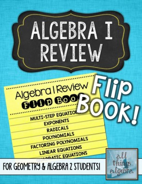 Algebra 1 Review Flip Book Pages 1 - 20 - Text Version | AnyFlip