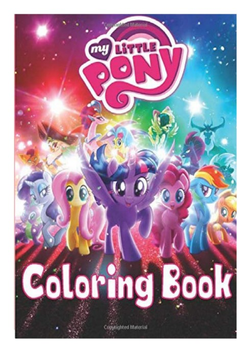 Ebook PDF My Little Pony Coloring Book Coloring Book For Kids Ages 4-8 9-12  Kids Coloring Books (70 Pages HQ Illustrations) (online PDF)