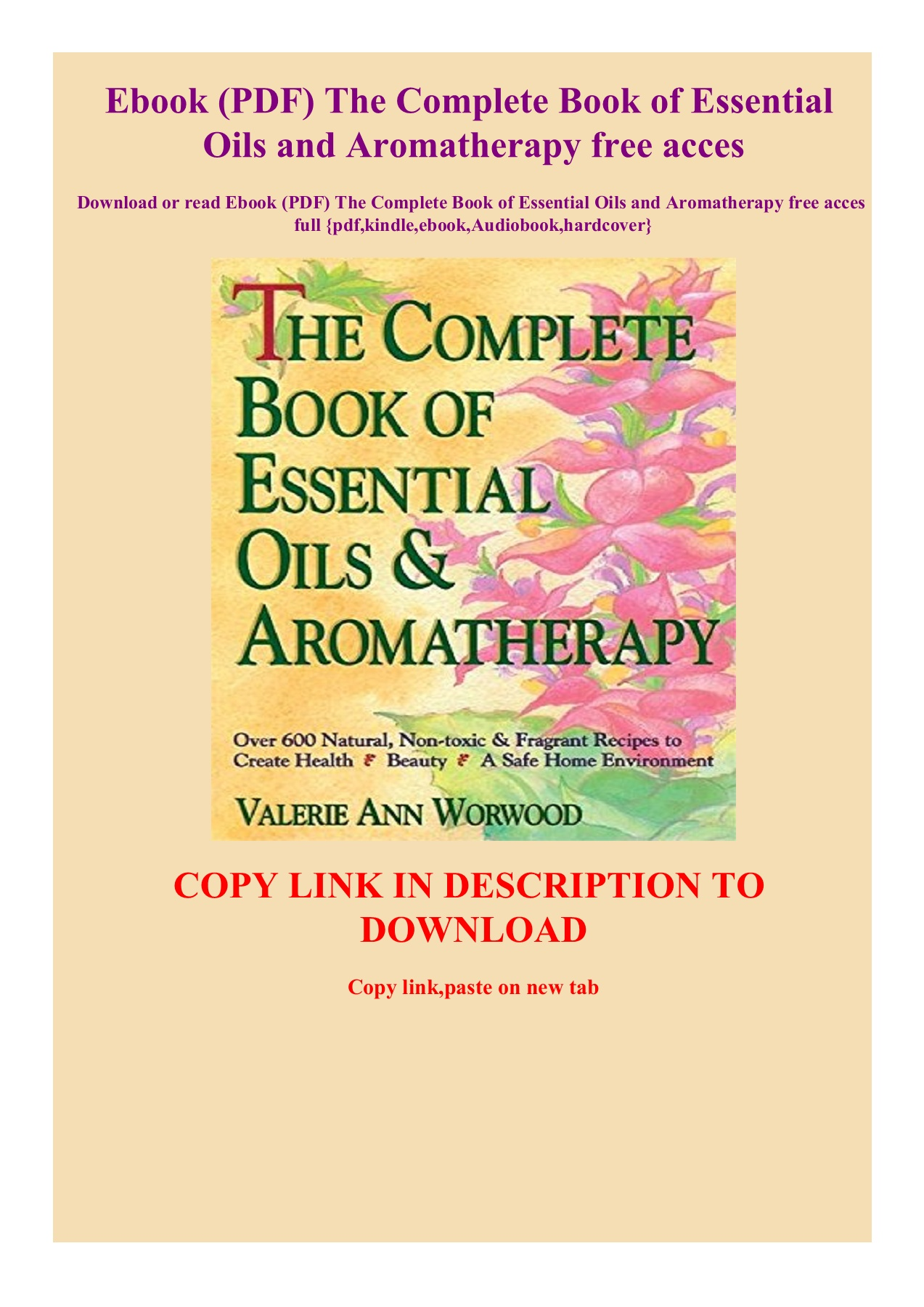 Ebook PDF The Complete Book of Essential Oils and Aromatherapy ...