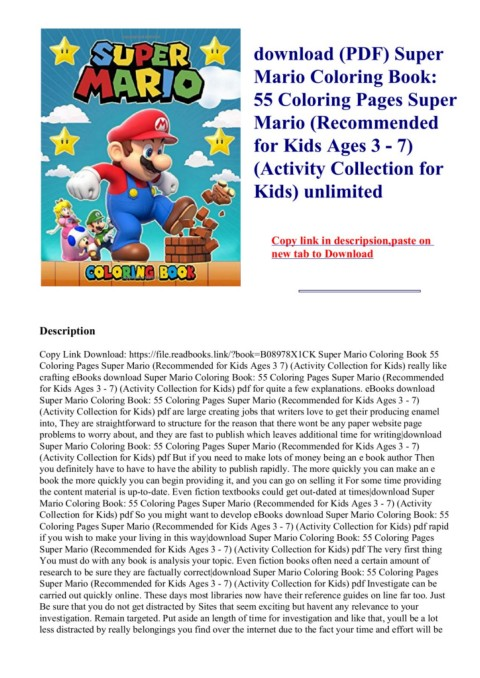 - Download-(PDF)-Super-Mario-Coloring-Book--55-Coloring-Pages-Super-Mario-(Recommended-for-Kids-Ages-3---7)-(Activity-Collection-for-Kids)-unlimited  Pages 1 - 5 - Text Version AnyFlip