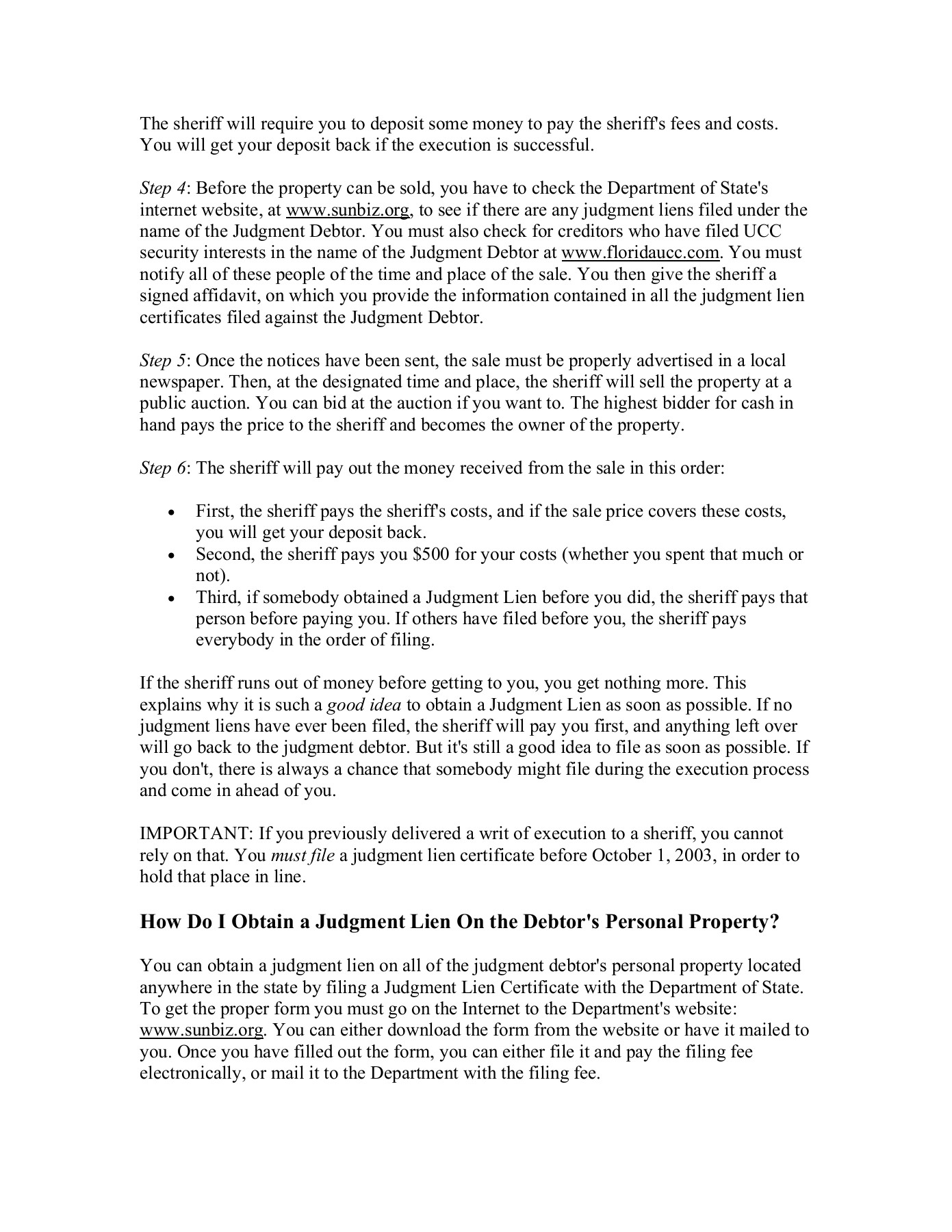 How To Collect A Judgment In Florida Okeechobee Clerk Pages 1 3 Text Version Anyflip