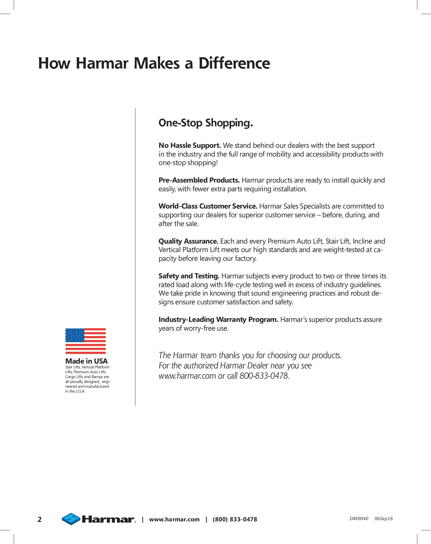 HARMAR MOBILITY 2016 Catalog Pages 1 - 36 - Text Version ... on